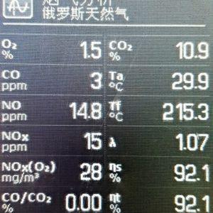 Resultados del test de gases | Recirculacion de gases de combustion