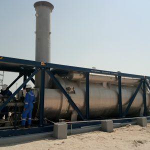 Quemador ATEX de E & M Combustion planta petrolifera Al-Jahra Kuwait