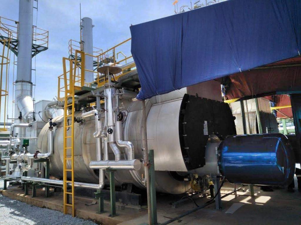 Quemadores industriales en la Refineria de caucho de Batam, Indonesia | E&M Combustion