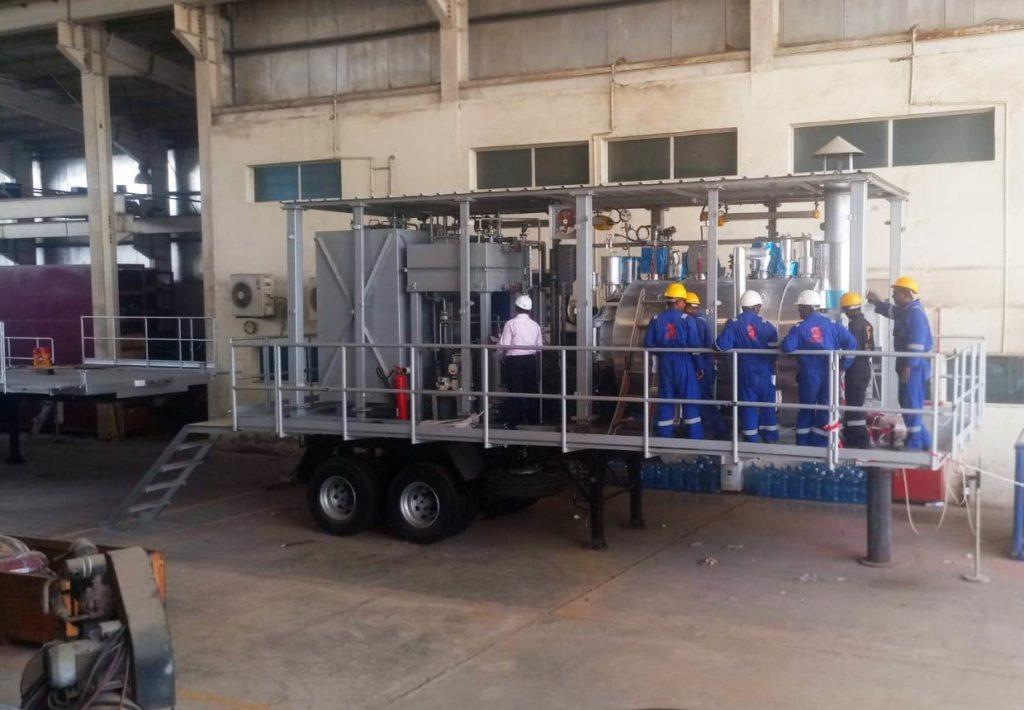 Sistema movil de generacion de vapor  para prospecciones de petroleo | E&M Combustion