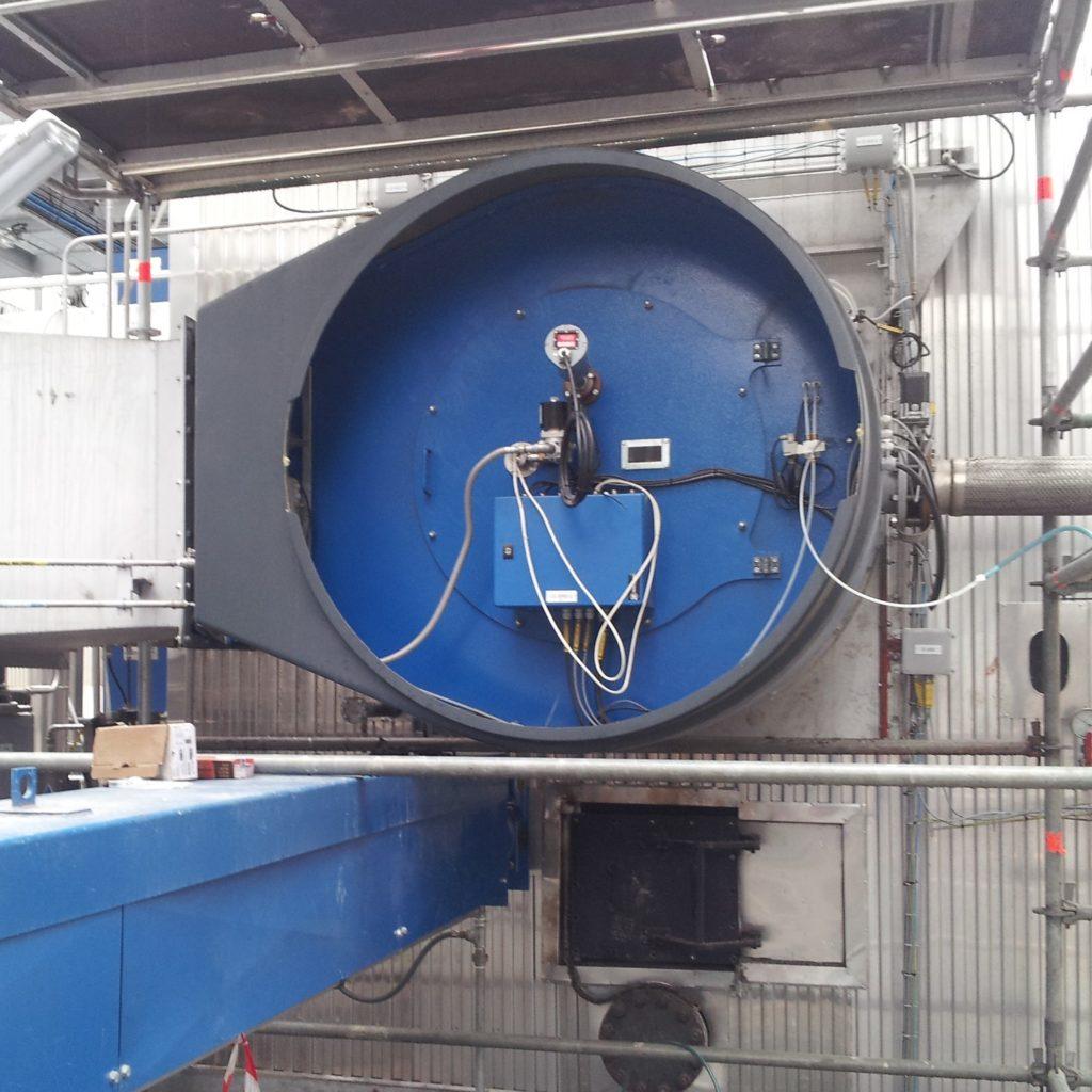 Quemador JBD-40.000-G para quema de cascara de girasol con quemador de gas natural como combustible auxiliar | E&M Combustion