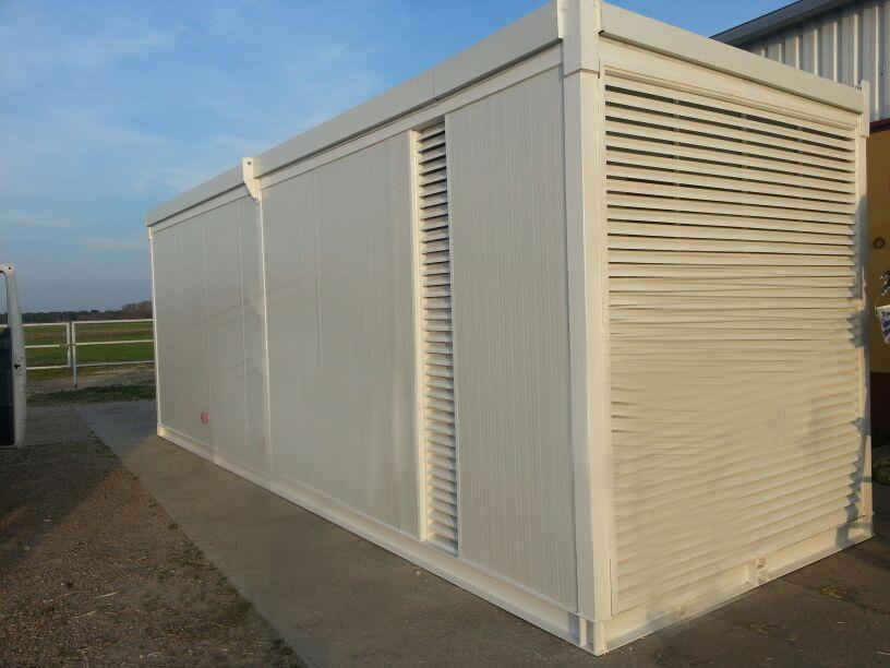 Container housing the mobile incinerator furnace | E&M Combustion