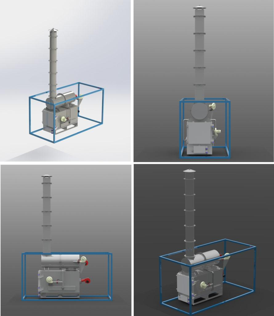 Portable hospital waste and corpses incinerator | E&M Combustion