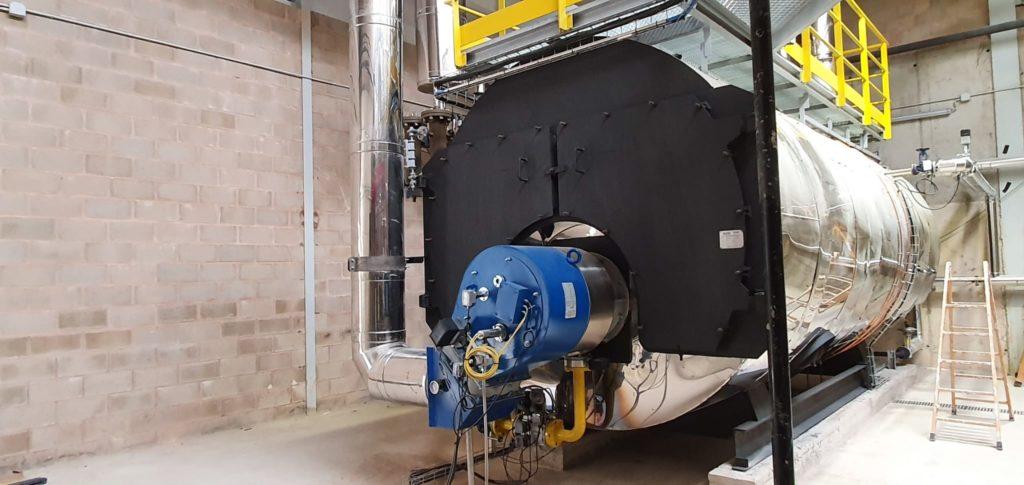Instalacion de generacion de vapor industrial | E&M Combustion