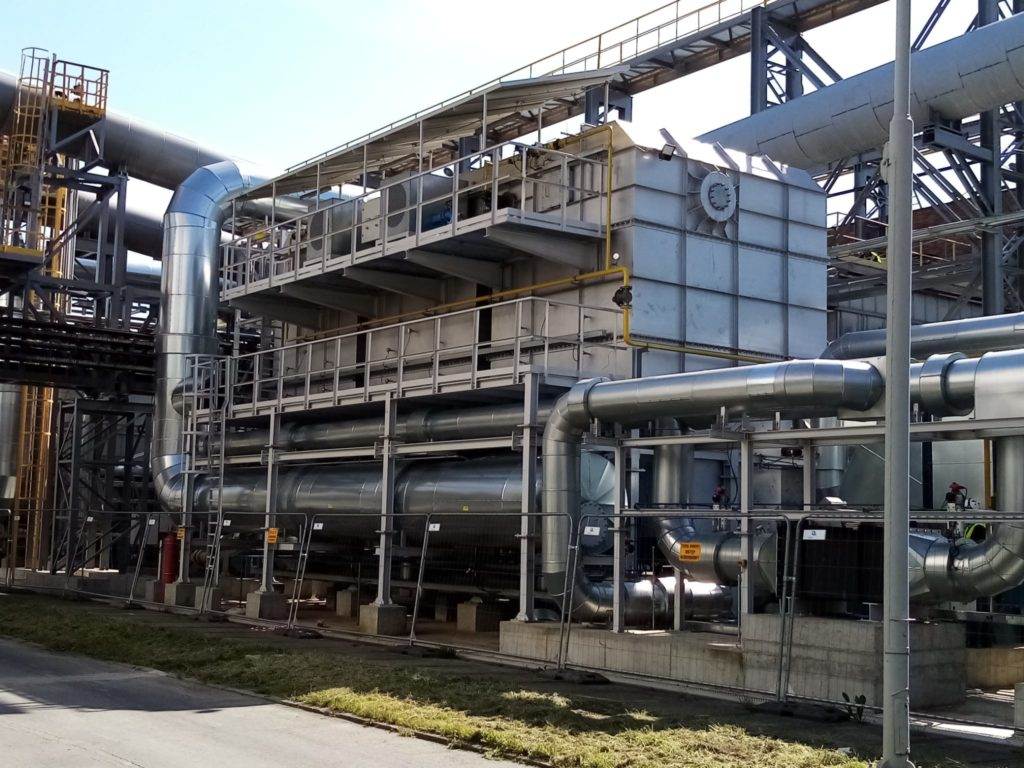 Regenerative Thermal Oxidation System (RTO) in a chemical plant | E&M Combustion