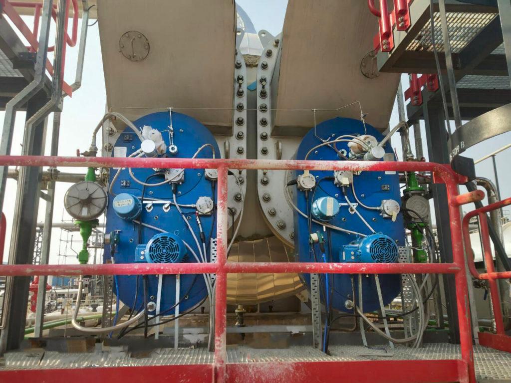 Calentadores indirectos de baño. Refinerias. E&M Combustion
