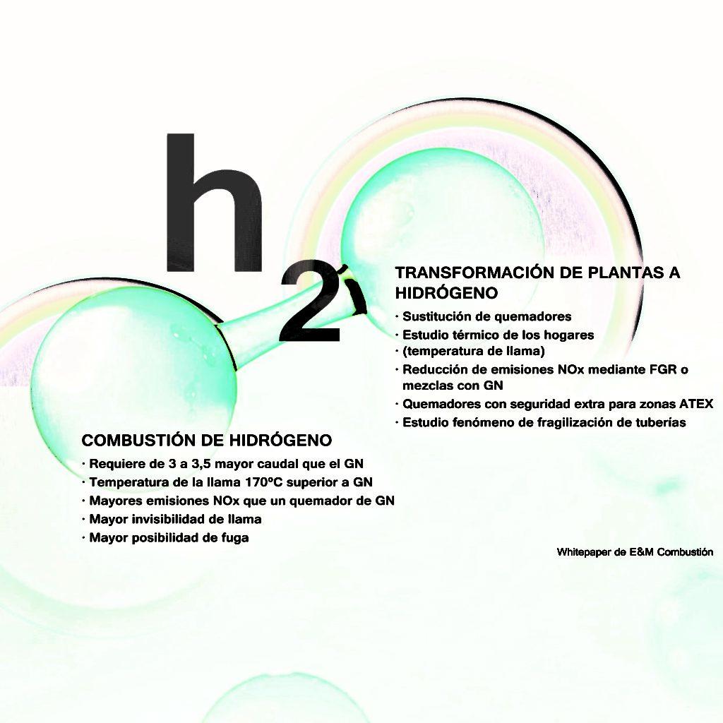 Quemadores y sistemas de combustión de hidrógeno