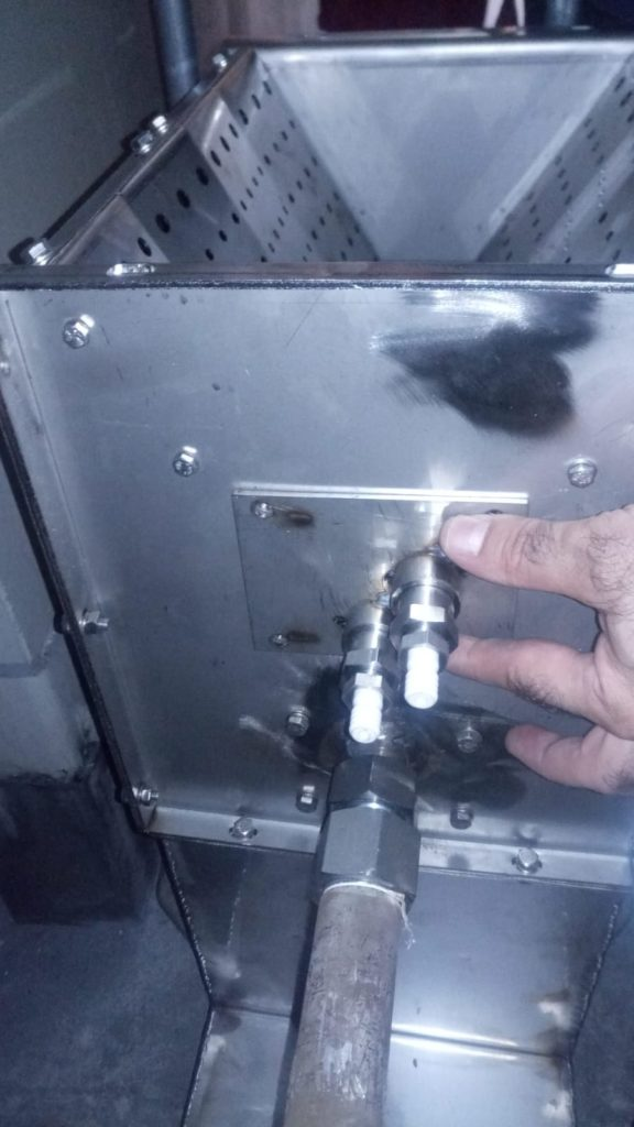 Quemador en vena de aire - linea de proceso de secado - cabinas de pintura