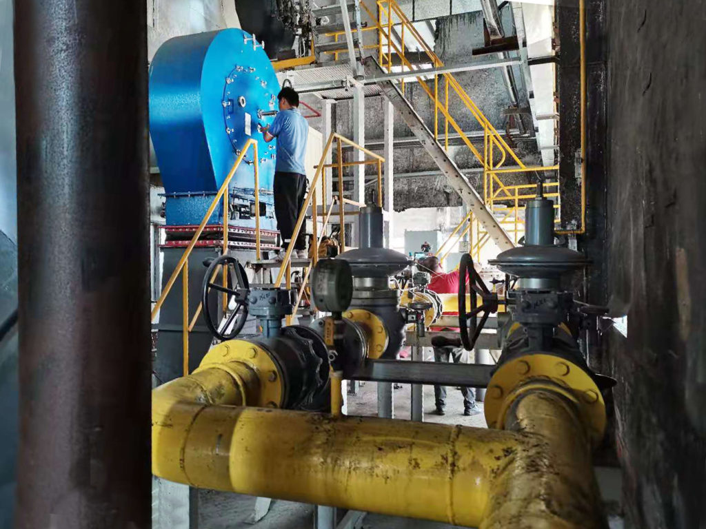 Quemadores industriales en la planta textil china Foshan Yingxia - E&M Combustion